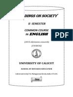 Readings in society calicut university