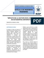 Artículo Científico_Impacto de La Lectura en Estudiantes Universitarios