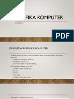 Bab 1 Pengantar Grafika Komputer