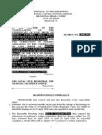 314923910 Manifestation Compliance