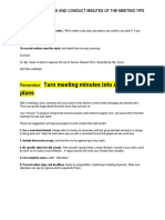 How to Take Note and Conduct Minutes of the Meeting Tips