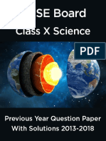 CBSE X Science book past year
