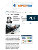 7 Lessons Small Businesses Can Learn From Tech Startups