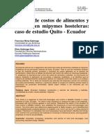 Control de Costos a y Quito Ecuador