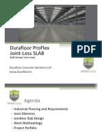 Durafloor Proflex Jointless Slab