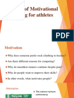 Concept of Motivational Training to Athletes