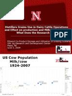 Distiller Grains Use in Dairy