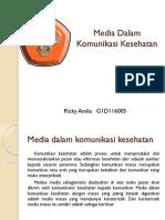 Media Dalam Komunikasi Kesehatan