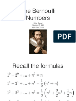The Bernoulli Numbers