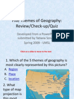 Geography 5 Themes Visual Test
