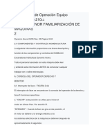 Intrucciones de Operación Equipo KOBELCO Sk210lc