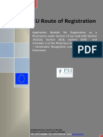 Route of Registration