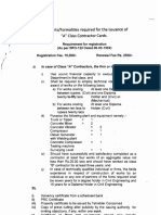 Documents Formalities Required for the Issuance of a B C&D Class Contractor Cards