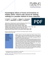 Psychological Effects of Forest Environments on Healthy Adults...