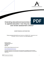 Extending Educational Taxonomies From General to Applied Education Can They Be Used to Write and Review Assessment Criteria