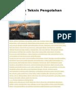Teknis Pengolahan Batubara