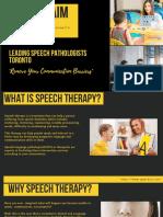 Speech Pathologist Toronto  Cross Your Communication Barriers