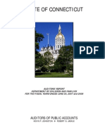 State of Connecticut Auditors' Report Department Of Children And Families For The Fiscal Years Ended June 30, 2007 and 2008