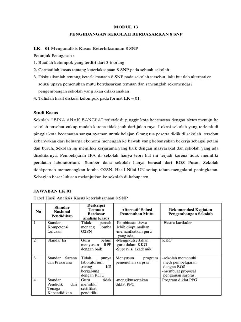 Jawaban Modul 13 Lk 01 03 Print Docx