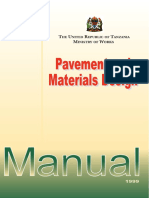 Pavement and Materials Design Manual 1999 Tz