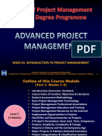 Week 01 - Introduction to Project Management