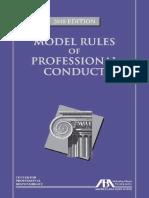 American Bar Association - Model Rules of Professional Conduct-ABA Book Publishing (2018)