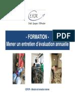 Cefor Formation Entretien-Devaluation Rh 2012