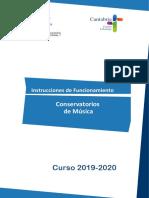 Instrucciones Conservatorios 2019-2020 Definitivas