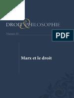 Marx Et Droit