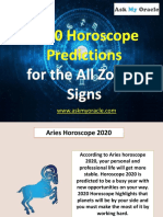Horoscope 2020 Predictions For All 12 Zodiac Signs