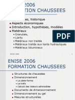 ENISE 2006  FORMATION CHAUSSEES