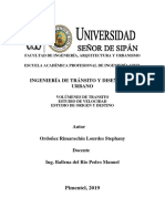 Volumen de Tránsito Ordoñez