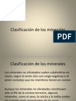 5. Clasificación de Los Minerales