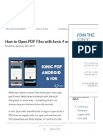 How to Open PDF Files With Ionic 4 on Android and IOS - Ionic AcademyIonic Academy