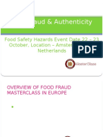 Food Fraud & Authenticity Masterclass in Amsterdam