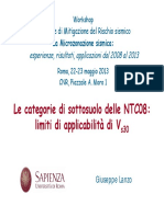 CATEGORIE SOTTOSUOLO  - NTC08