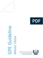 GPE Master Thesis Guide 2019