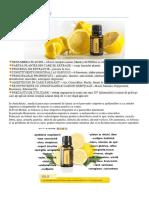 Uleiul esential Lemon doTerra