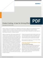 Product Costing a Case for Driving Effectiveness