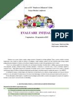 Evaluare Inițială Grupa Mijlocie 2019-2020