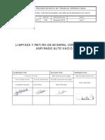 01_PTO-001 Limpieza y Retiro de Mineral Con Camión Aspirador V04