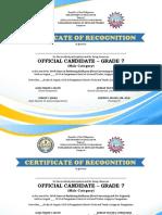 Certificate science