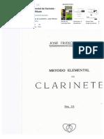 Metodo Elemental de Clarinete. Jose Franco Ribate
