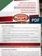 Mapro Presentation