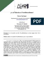 Simon Springer - A la mierda el neoliberalismo.pdf
