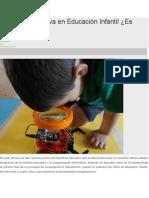 Robótica Educativa en Educación Infantil