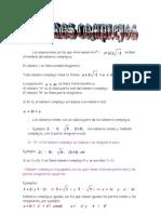Matematicas Resueltos (Soluciones) Numeros Complejos 1º Bachillerato