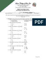 Matery Test Business Mathematics