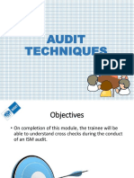 Audit Techniques