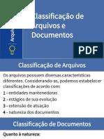 Arquivologia Classificação de Documentos